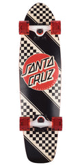 Santa Cruz Check Stripe Jammer - Multi - 7.4in x 29.1in - Complete Skateboard