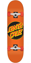 Santa Cruz Classic Dot Sk8 - Orange - 7.5in x 30.6in - Complete Skateboard