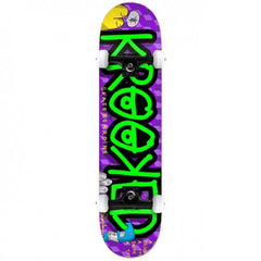 Krooked Drive A Toy Mini - Purple/Green - 7.3in x 29in - Complete Skateboard