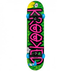 Krooked Drive A Toy Medium - Green/Pink - 7.75in x 31.25in - Complete Skateboard