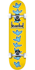 Krooked Birdical - Yellow - 8.0in x in - Complete Skateboard