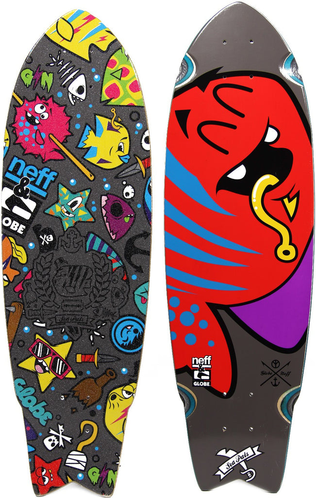 Globe Neff Sea Pals Cruiser - Steel - 9.25in x 30in - Complete Skateboard