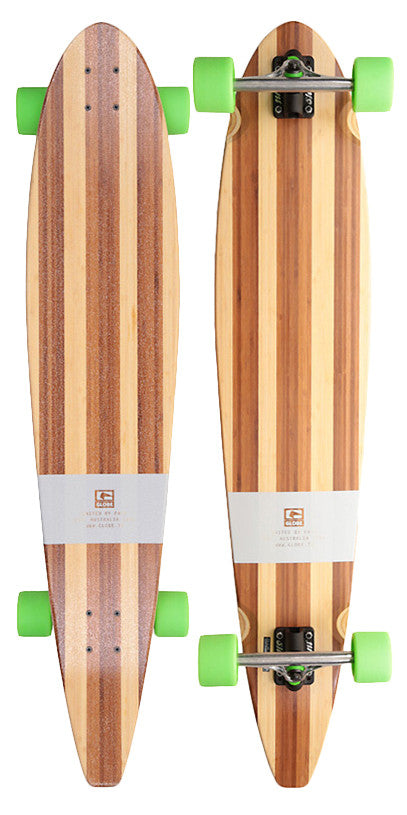 Globe Big Pinner Bamboo - Bamboo/Green - 44in - Complete Skateboard