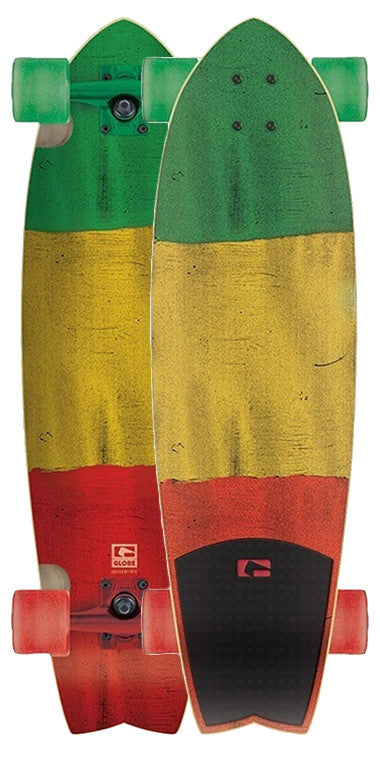 Globe Chromantic - Rasta Flag - 33 - Complete Skateboard