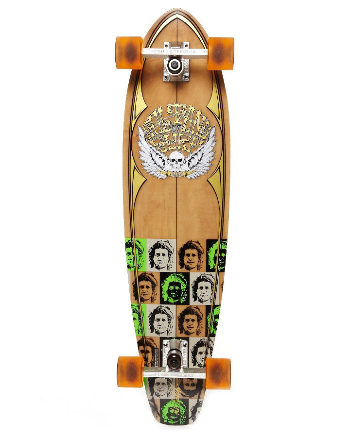 Globe Sultans of Surf Occy - Natural/Clear Amber - 9in x 36in - Complete Skateboard