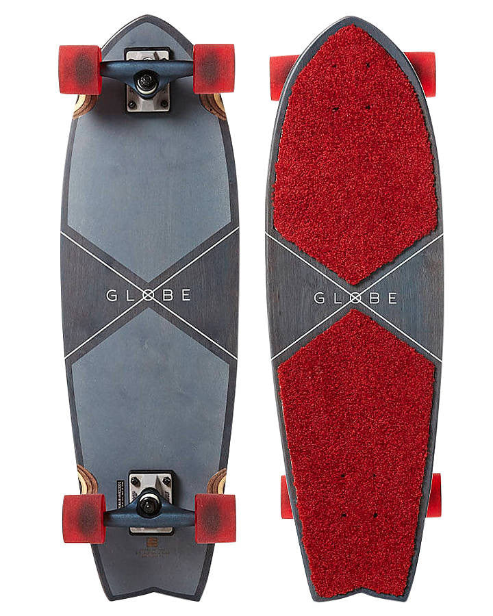 Globe Carpet Top - Blue/Red - 9.25in x 30in - Complete Skateboard