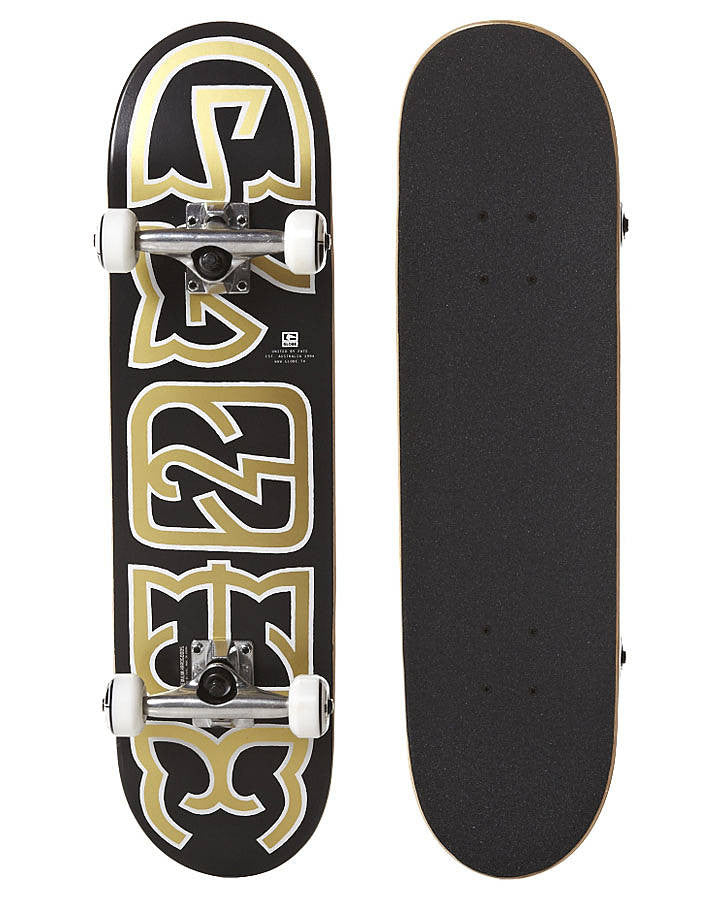 Globe Heyman - Black/Gold - 7.6in x 31.5in - Complete Skateboard