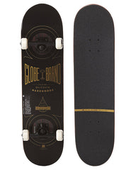 Globe Banger - Black/Gold - 8.0in x 31.7in - Complete Skateboard