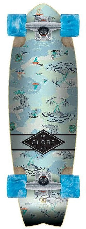 Globe Sun City - Blue Palms - 9in x 30in - Complete Skateboard