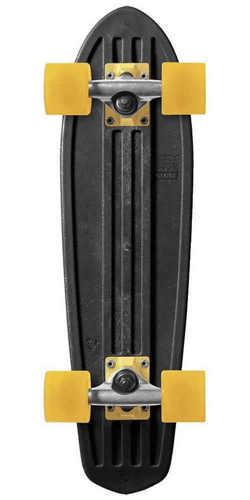 Globe Bantam Mash Ups - Black/Raw/Yellow - 24in - Complete Skateboard