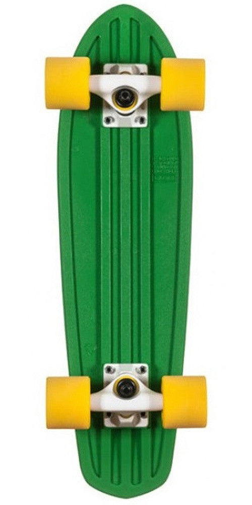 Globe Bantam Mash Ups - Green/White/Yellow - 24in - Complete Skateboard