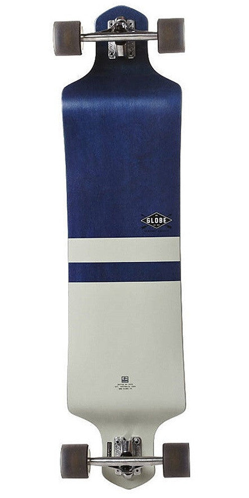 Globe Geminon Drop Down - Blue Diamond/White - 41in - Complete Skateboard