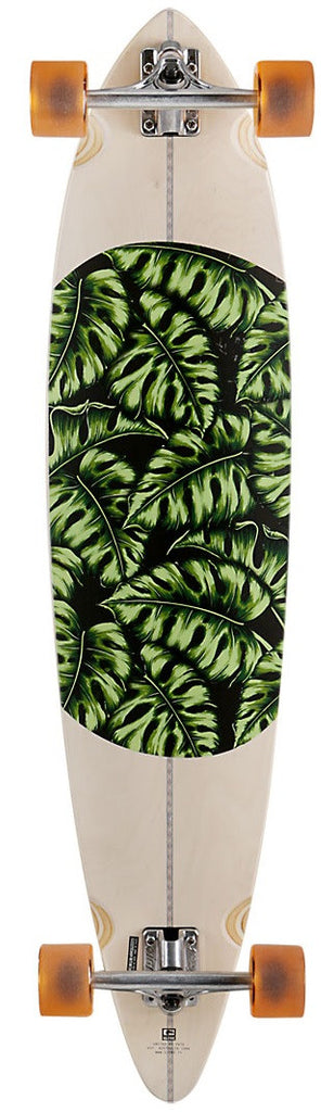 Globe Monstera Pintail - Natural/Monstera - 9.75in x 44in - Complete Skateboard