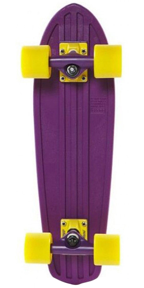 Globe Bantam Mash Ups - Purple/Yellow - 24in - Complete Skateboard