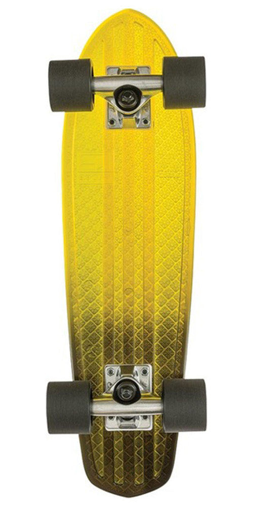 Globe Bantam Clears - Yellow/Black Fade - 24.0in - Complete Skateboard