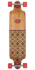 Globe Bannerstone - Red/Bamboo - 41.0in - Complete Skateboard