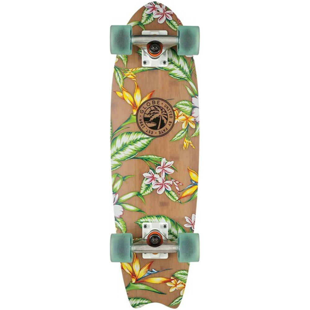 Globe Paradise Fiberglass - Bamboo/Clearwater - 26.0in - Complete Skateboard