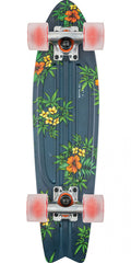 Globe Bantam Graphic ST - Navy/Hibiscus - 6.0in x 23.0in - Complete Skateboard