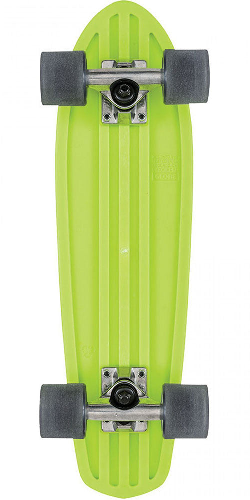 Globe Bantam Retro Rippers Mini - Lime/Raw/Black - 7.0in x 24in - Complete Skateboard