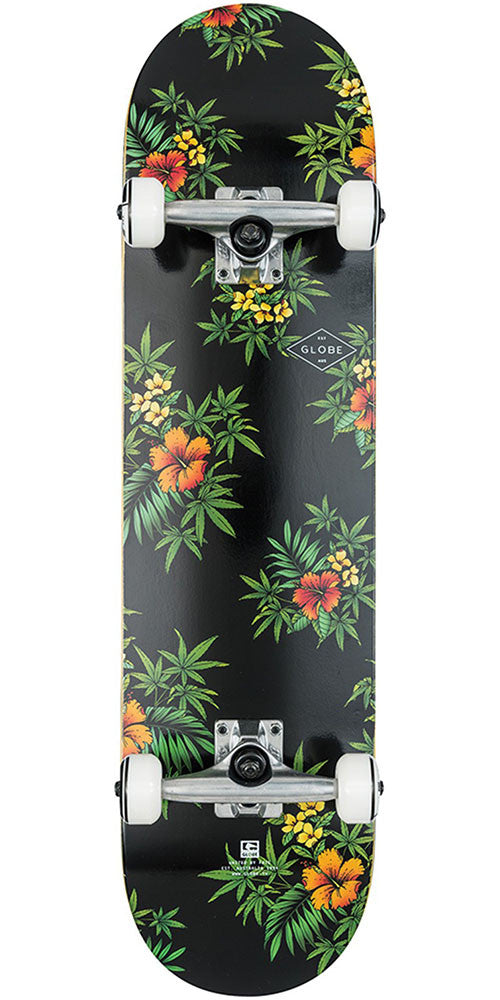 Globe Full On - Black/Hibiscus - 8.0in - Complete Skateboard