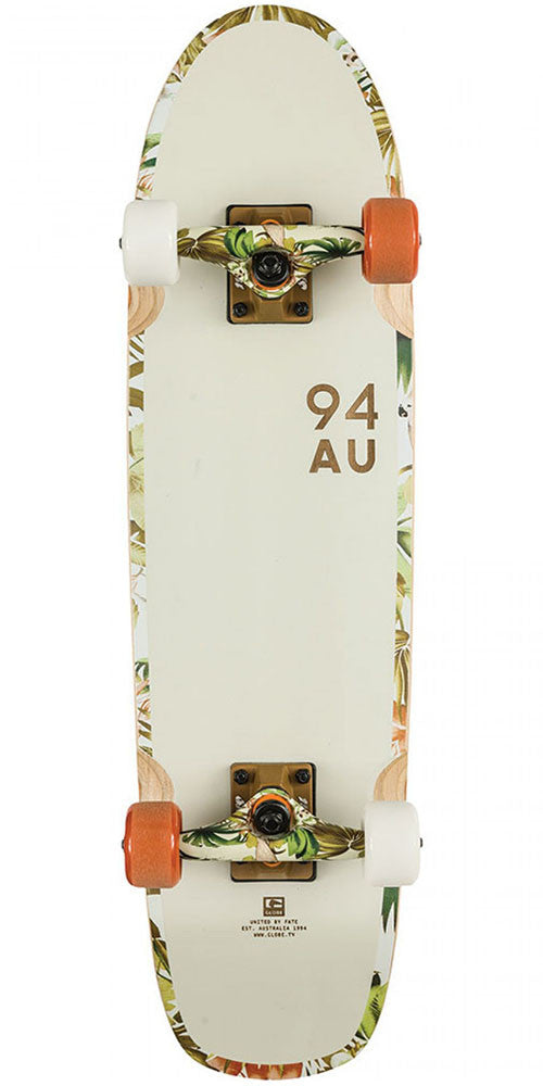 Globe Bruiser - Off White/Jungle - 7.7in x 29.0in - Complete Skateboard