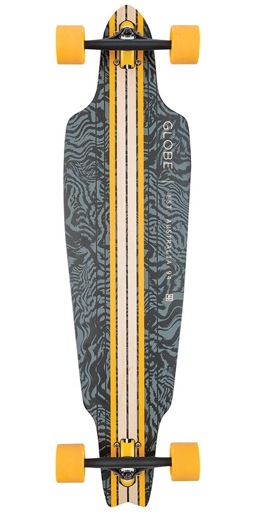 Globe Prowler Cruiser - Black/Yellow/Tailspin - 38.5in - Complete Skateboard