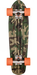 Globe Bantam Graphic - Camo/Orange - 7.0in x 24.0in - Complete Skateboard