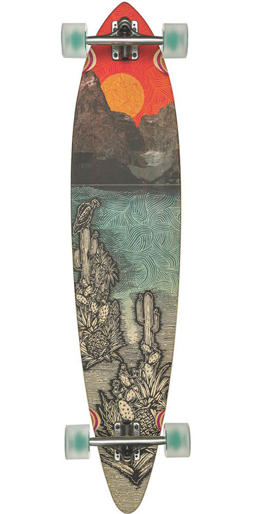 Globe Pintail Bamboo - Climate Change - 9.75in x 44.0in - Complete Skateboard