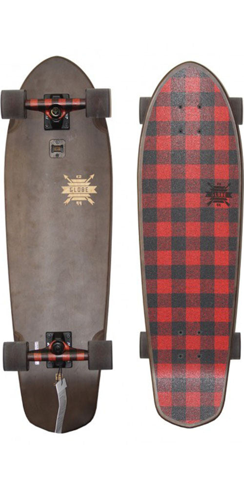 Globe Big Blazer - Lumberjack Plaid - 9.25in x 32.0in - Complete Skateboard