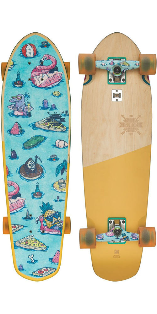Globe Big Blazer - Splash House - 9.25in x 32.0in - Complete Skateboard