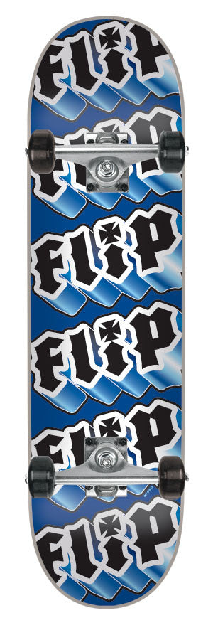 Flip Team Third Dimension - Blue/Black - 8.0in x 32.2in - Complete Skateboard
