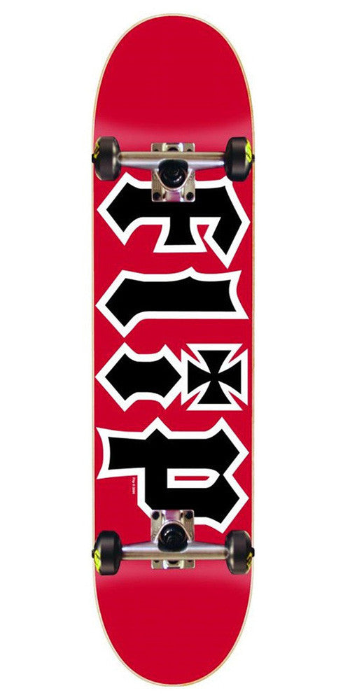 Flip Team HKD - Red - 7.5in x 31.25in - Complete Skateboard
