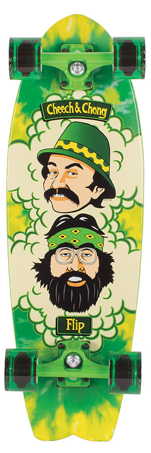 Flip Cheech and Chong Green Room Cruzer - Green - 8.8in x 27.7in - Complete Skateboard