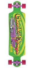 Flip Cheech and Chong Lo-Rah-Duh Drop Down Cruzer - Green - 10in x 40in - Complete Skateboard