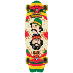 Flip Cheech and Chong Rasta Cruzer - Rasta - 8.8in x 27.7in - Complete Skateboard
