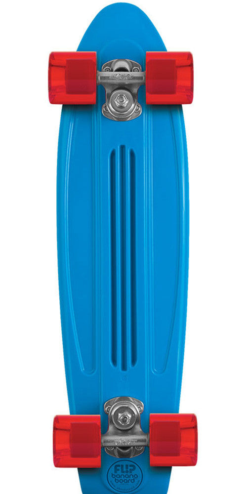 Flip Banana Board Cruzer - Blue/Red - 6.0in x 23.25in - Complete Skateboard
