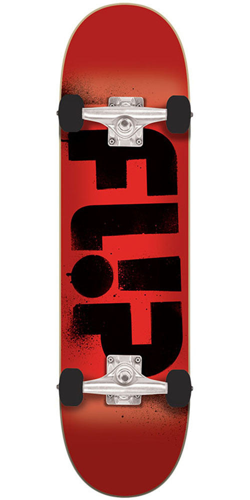 Flip Team Odyssey Stencil Regular Sk8 - Red - 7.88in x 32.0in - Complete Skateboard