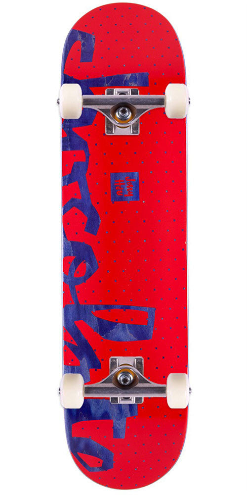 Chocolate HSU Floaters - Red/Black - 7.75in x 31.125in - Complete Skateboard