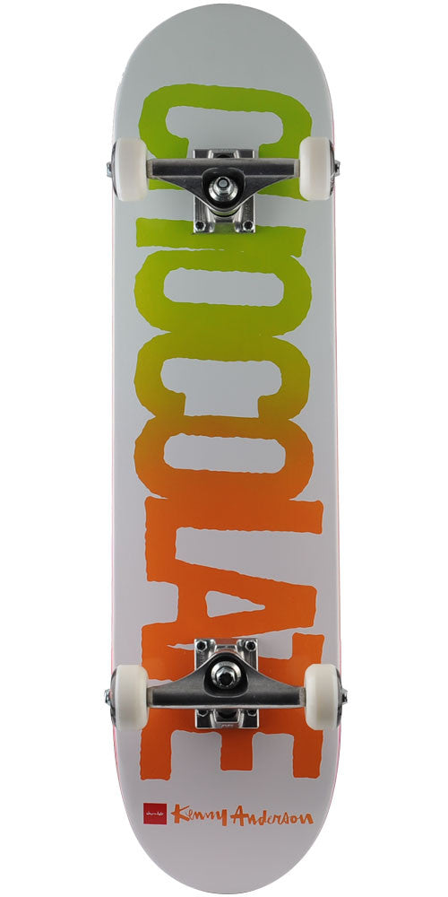 Chocolate Anderson Cutout - White - 7.625in x 31.125in - Complete Skateboard