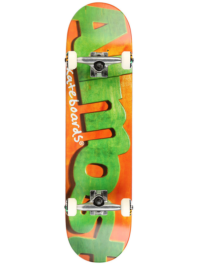 Almost Actual Logo - Orange/Green - 8.0 - Complete Skateboard