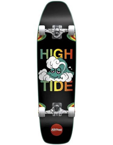 Almost High Tide Cruiser - Black/Rasta - 8.6in x 31.5in - Complete Skateboard
