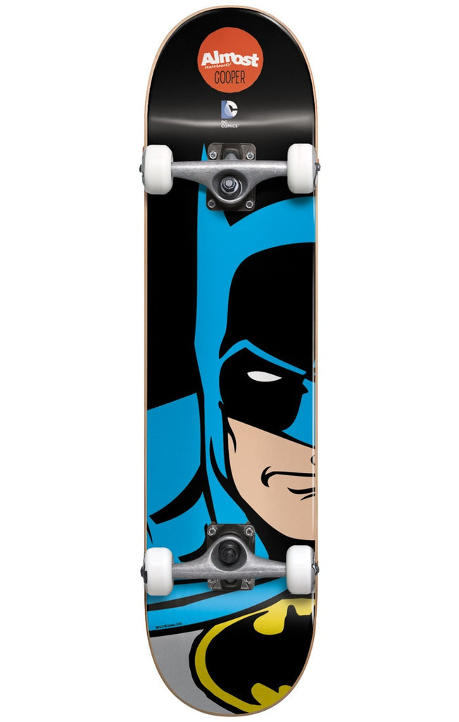 Almost Cooper Wilt Batman Split Face - Black - 7.75in - Complete Skateboard