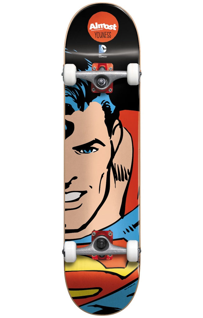 Almost Youness Amrani Superman Split Face Youth Mid - Black - 7.375in - Complete Skateboard