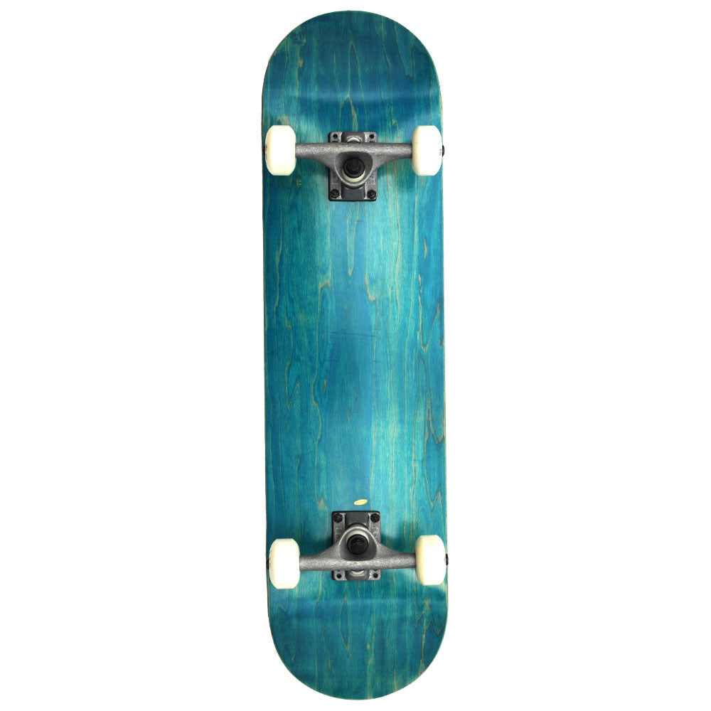 "Action Village 8""  Blue Blank Deck - Complete Skateboard"