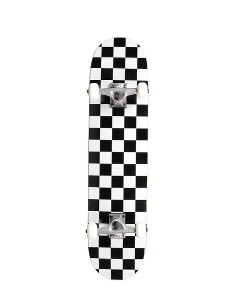 "Blemish Action Village 8.0"" White Checker - Complete Skateboard"