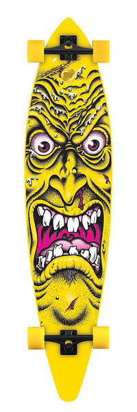 Santa Cruz Rob Face Pintail Cruzer - Yellow - 9.9 x 43.5 - Complete Skateboard