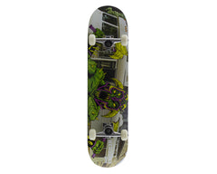Creature Heddings Creeps Powerply - White/Green - 31.7in x 7.9in - Complete Skateboard