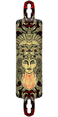 Rayne Elevation Series Demonseed Longboard - Black/Yellow - 10in x 44in - Complete Skateboard