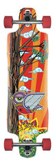 Rayne Signature Series Douglas Dalua Piranha Longboard - Orange/Multi - 10in x 37.5in - Complete Skateboard