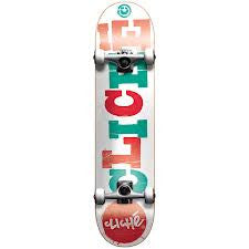 Cliche Wood Cut - White/Red - 7.6 - Complete Skateboard